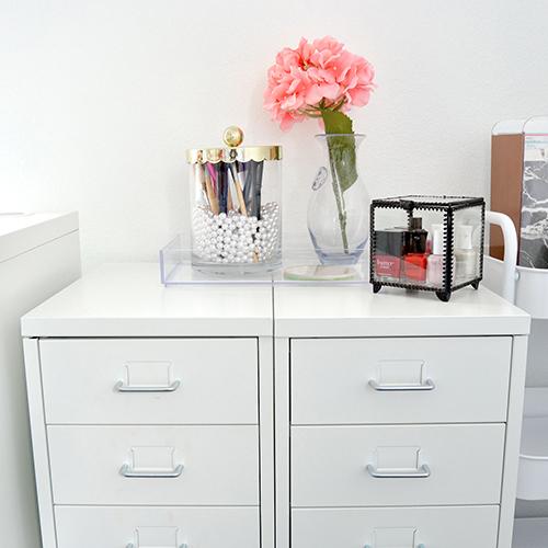 Chic Budget Friendly Makeup Storage Options