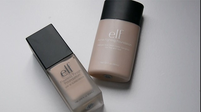 elf Foundation Face-Off Flawless Finish vs Acne Fighting