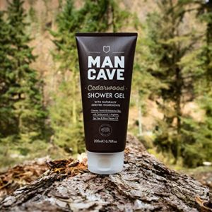 Man Cave Natural Cedarwood Shower Gel for Men