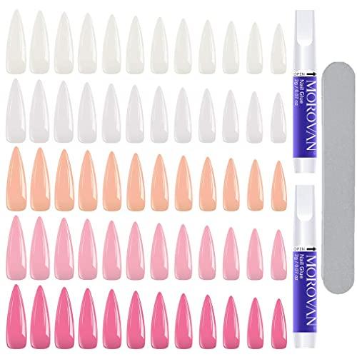 Morovan Stiletto False Nails Kit